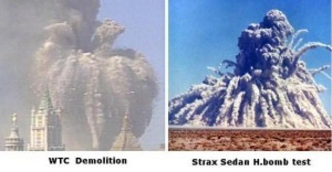 911 WTC Demolition & Strax Sedan H.bomb test (foto Before It's News)