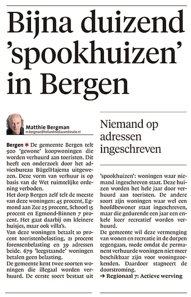 Alkmaarse Courant, 22 juni 2018