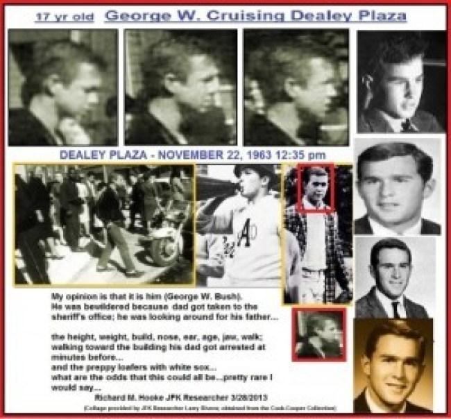 G.W. Bush in Deally plaza when JFK was gunned down 2 (foto Before It's News)