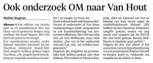 Alkmaarse Courant, 2 augustus 2018