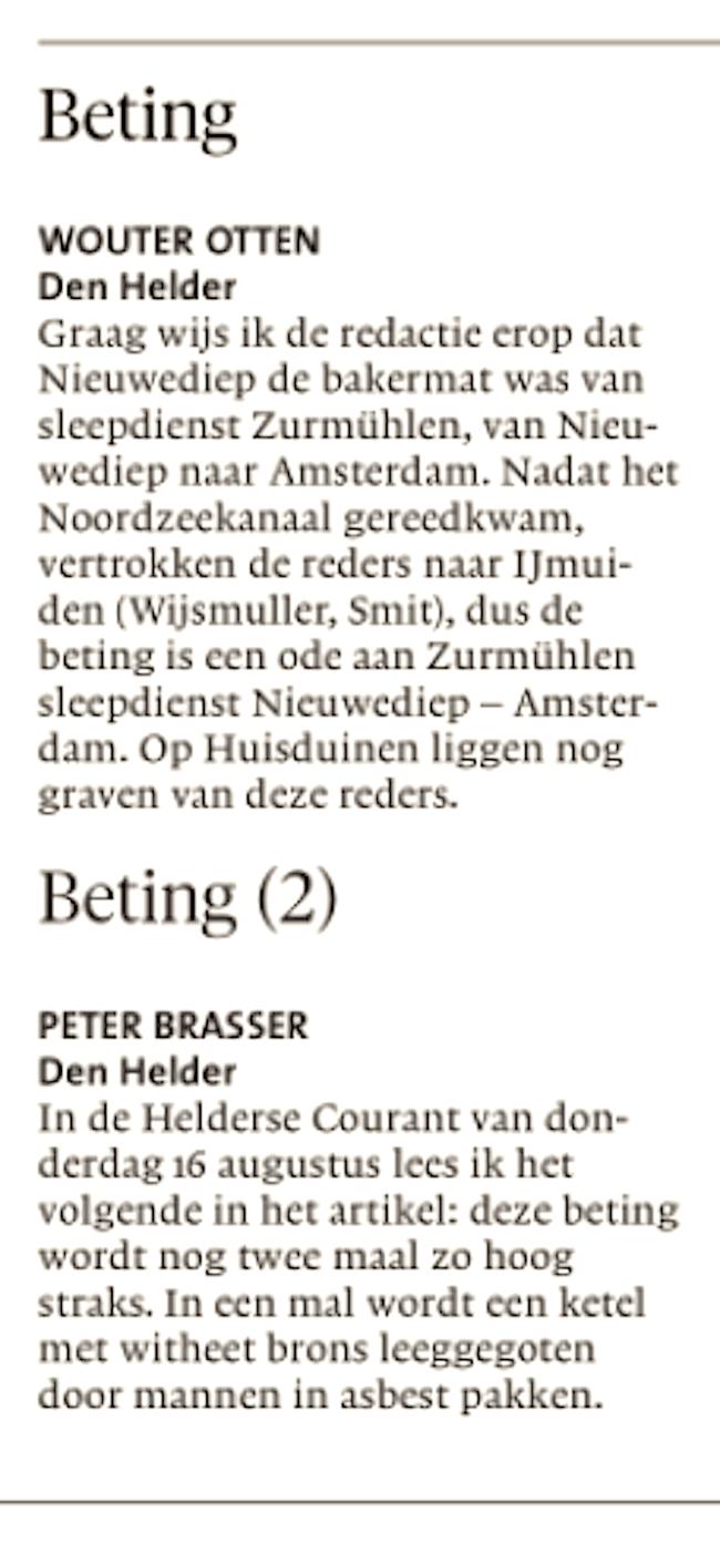 Helderse Courant, 18 augustus 2018