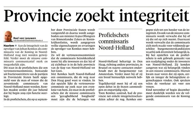 Noordhollands Dagblad, 3 september 2018