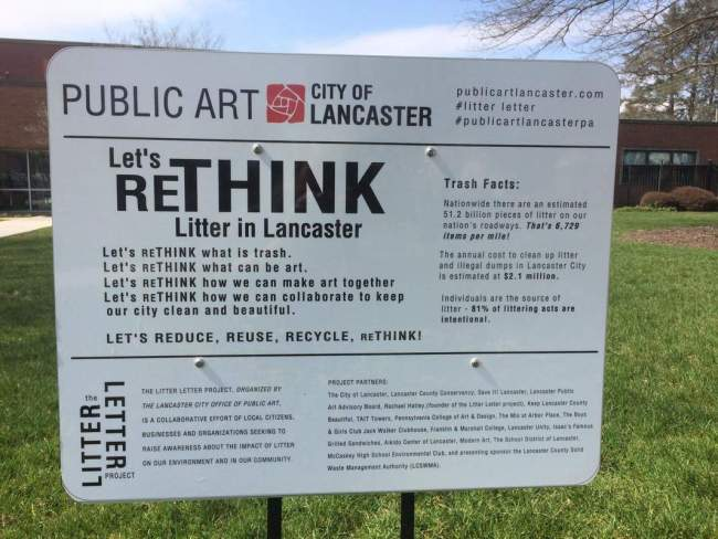 Let's rethink litter in Lancaster (foto Public Art City of Lancaster)