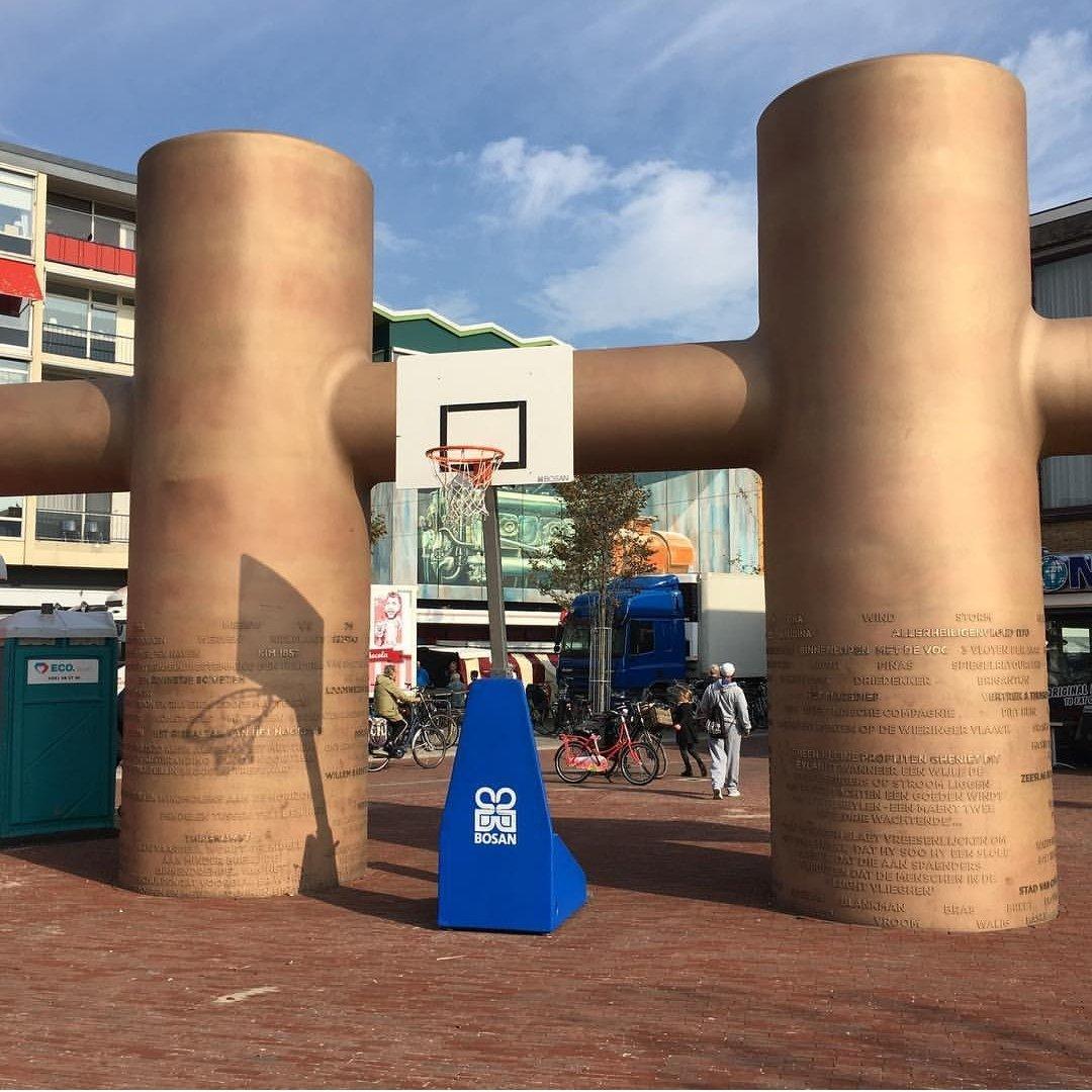 Den Helder, Kolderbolder met basket (foto Den Helder Suns/Twitter)
