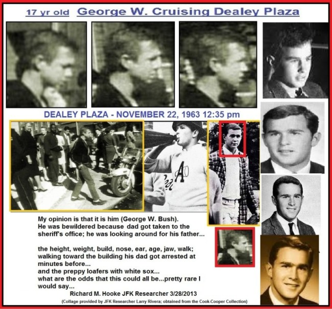 George W. Bush at Dealey Place during JFK murder (foto Before It's News)