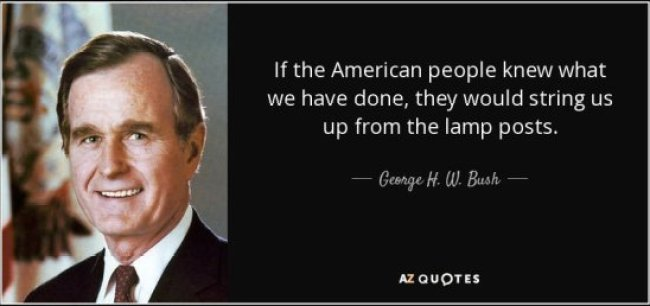 H.W. Bush Quote (foto Before It's News)