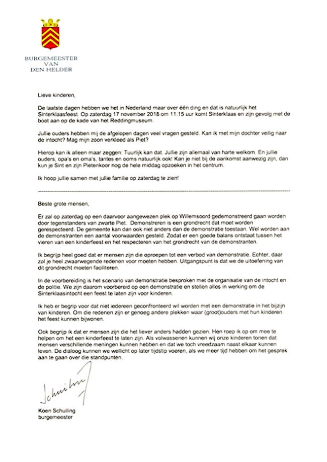 Koen Schuiling - Brief aan kinderen en grote mensen, 15 november 2018