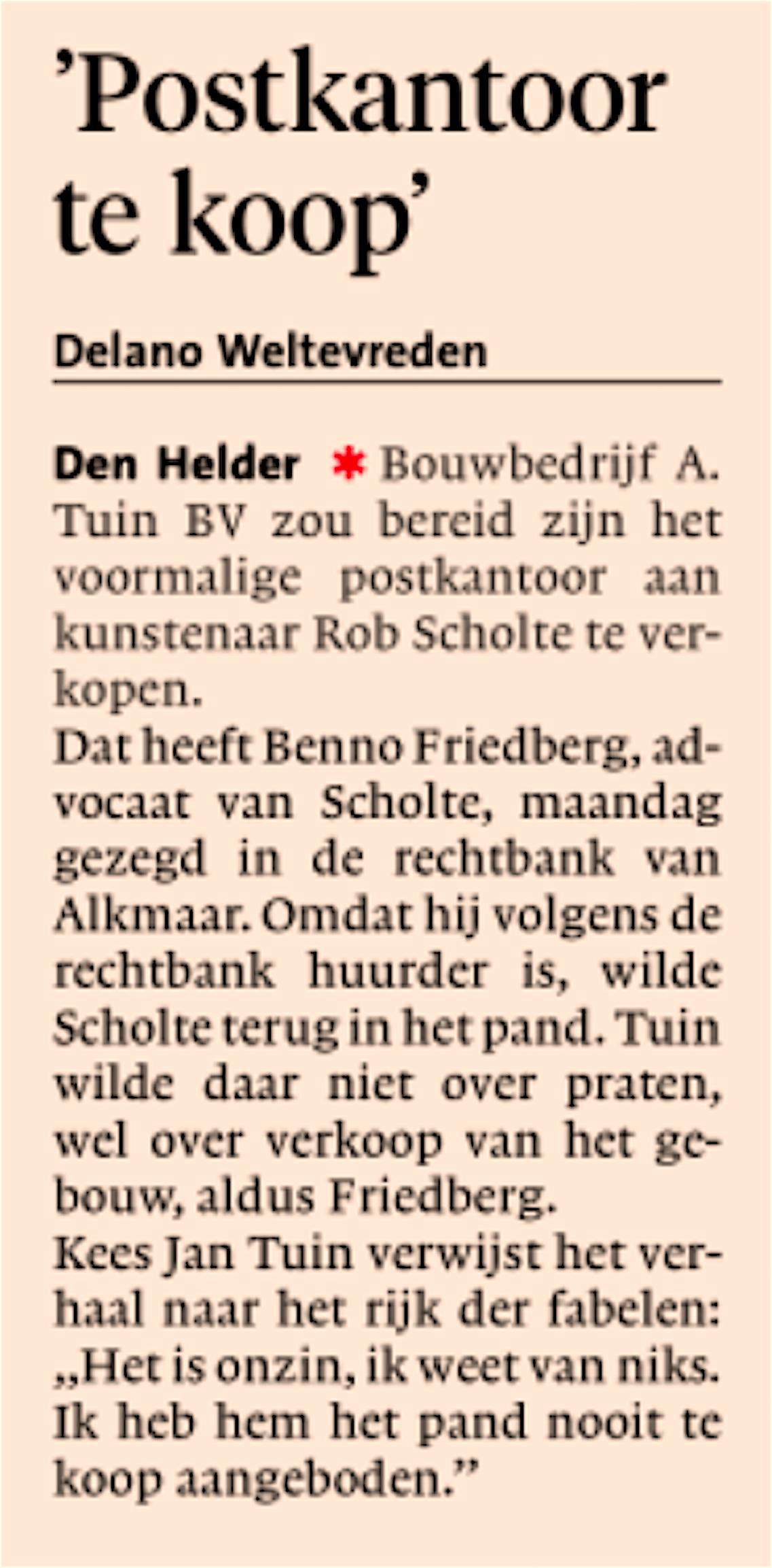 Noordhollands Dagblad, 11 december 2018