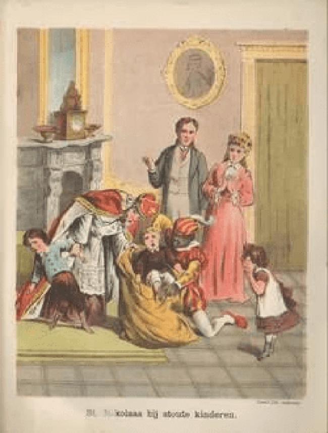 Nikolaas bij stoute kinderen