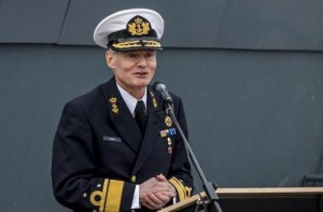 Admiraal Rob Kramer ziet graag een stevige werkgelegenheid (foto NHD)