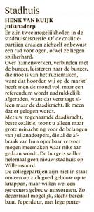 Henk van Kuijk - Stadhuis (1), Helderse Courant, 25 januari 2018