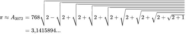 De berekening van Liu Hui (foto Wikipedia)