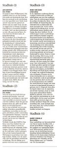Jan Karsten - Stadhuis (1) + Martien Rietveld - Stadhuis (2) + Henk van Kuijk - Stadhuis (3) _ Harry Cornelje - Stadhuis (4), Helderse Courant, 9 maart 2019