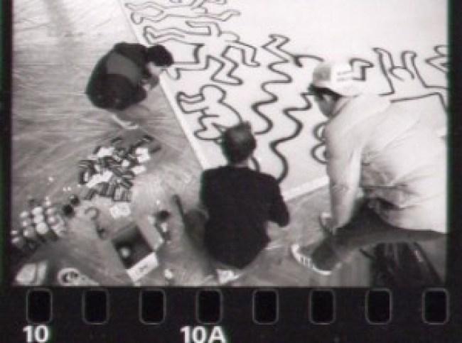 Januari 1986, Jan Rothuizen Keith Haring & Niels Meulman (foto CR)