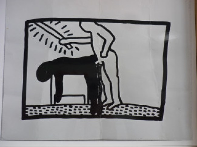 Keith Haring - Nightlife (foto Stedelijk Museum Amsterdam Archive:Keith Haring Foundation)