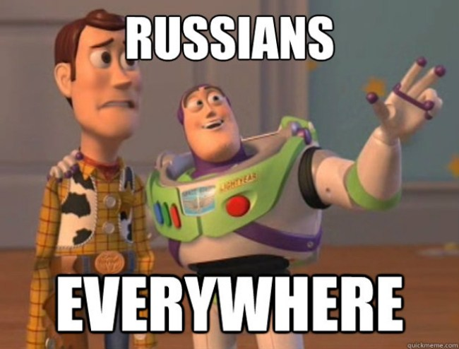 Russians everywhere (foto Jim Stone)