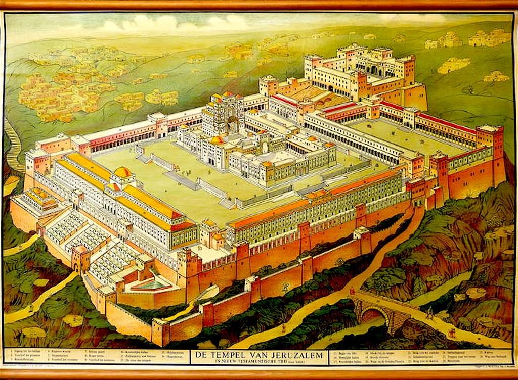 De Tempel van Jeruzalem in Nieuw Testamentische Tijd (foto Catawiki)