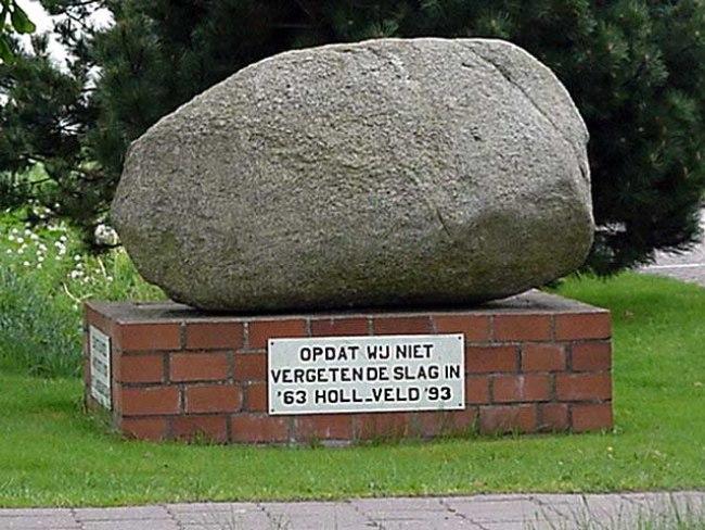 De steen des aanstoot (foto hollandschenveld.nl)