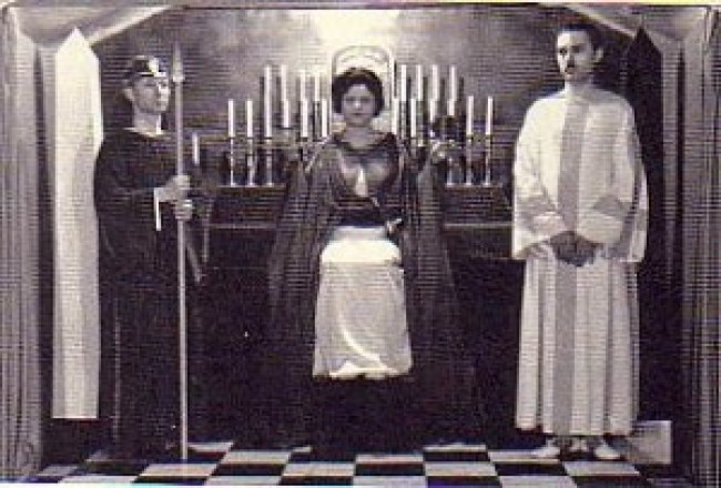 Jack Parsons with fellow members of the Agape lodge