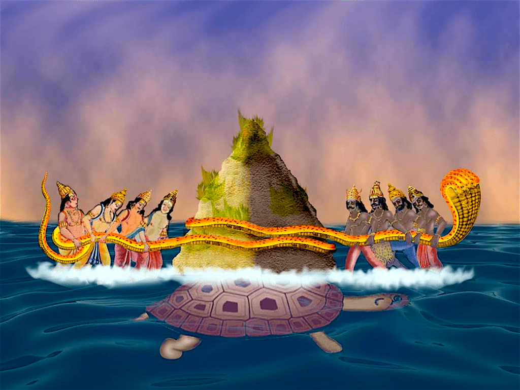Churning of the Ocean is the ancient Indian story of the devas (gods) working in co-operation with the asuras (demons), to produce amrit or the nectar of immortality (foto Pranay Gupta)