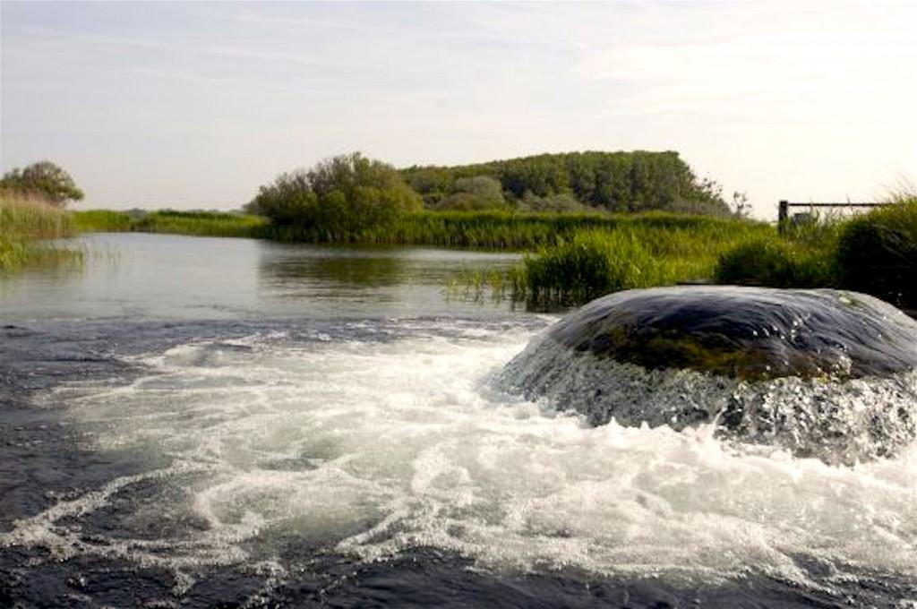Water inlaat Icas, de plek in de duinen, waar water, dat in de duinen geïnfiltreerd, is opgepompt wordt (foto PWN)