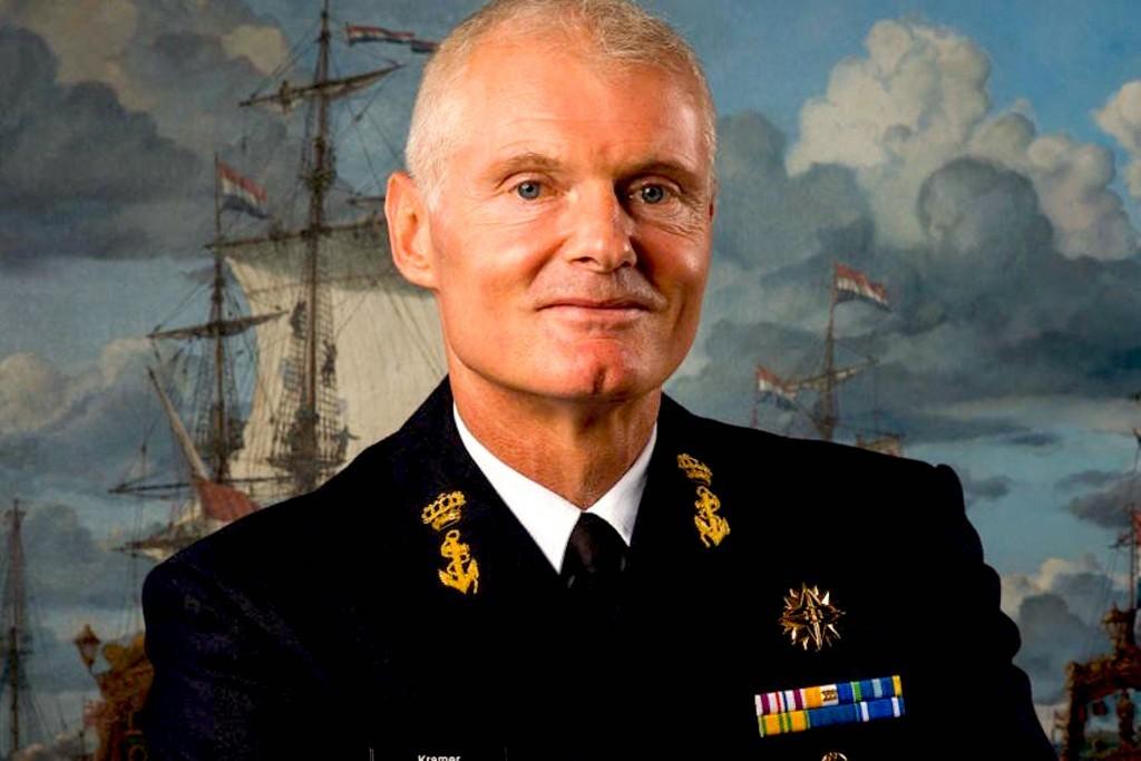 Commandant Zeestrijdkrachten Rob Kramer (foto Twitter)