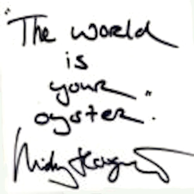"""The world is your oyster."" Micky Hoogendijk (foto NTR