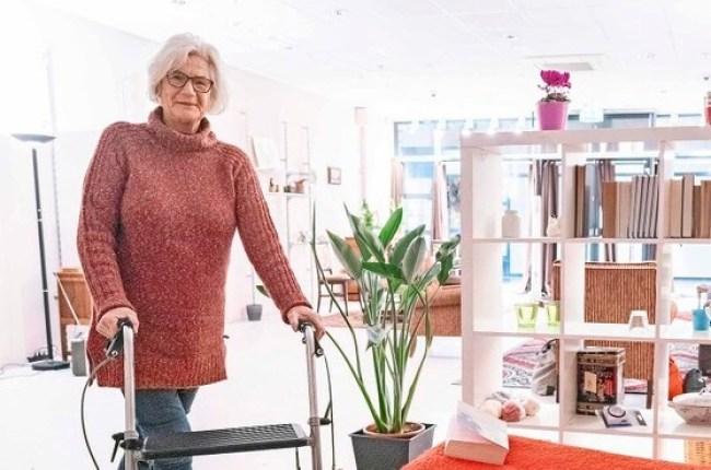 'Oma Jo' in haar Helderse 'winkelwoning' (foto Peter van Aalst)