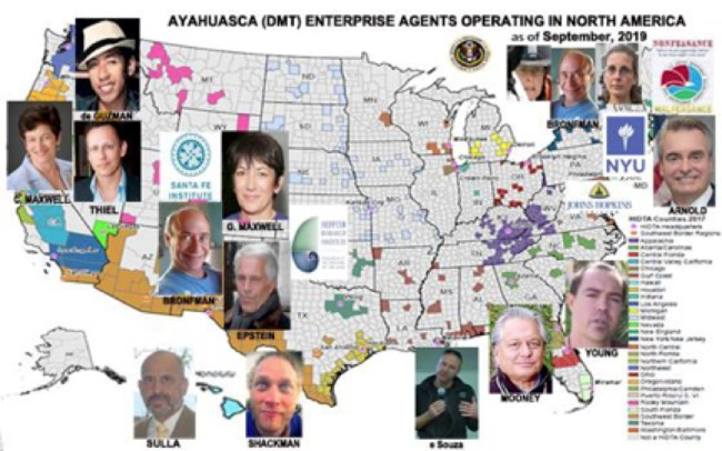 Ayahuasca (DMT) Agents Operating in North America, compiled by Dr. Leonard G. Horowitz and Sherri Kane
