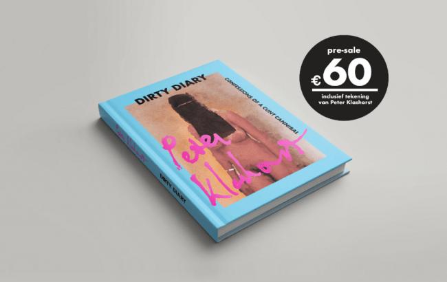Dirty Diary, Confessions of a Cunt Cannibal Pre-sale 60 euro, inclusief tekening van Pete Klashorst (foto klashorst.com)