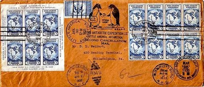 Little America Byrd Expedition Mail 1935 (foto Wikivisually)