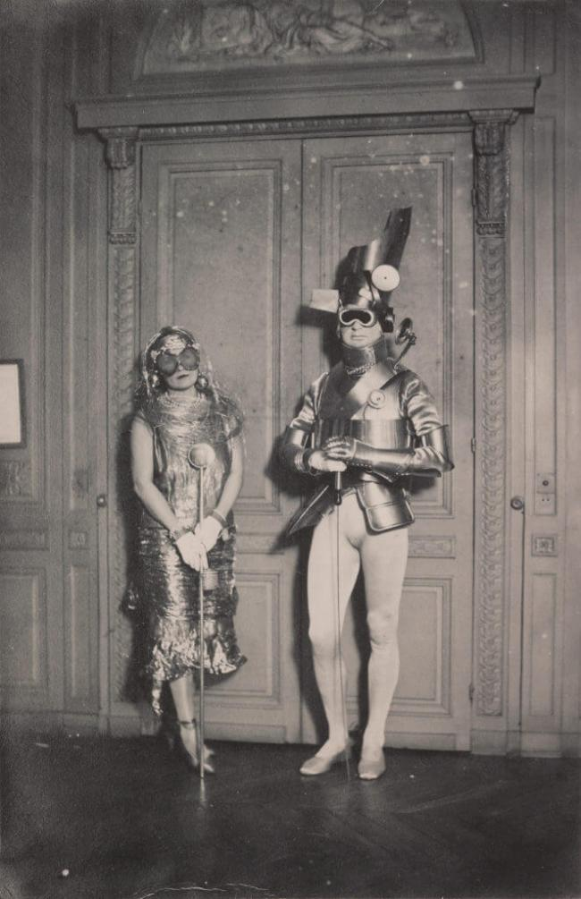 Man Ray - Sara and Gerald Murphy at a costume party in Montparnasse circa 1922
