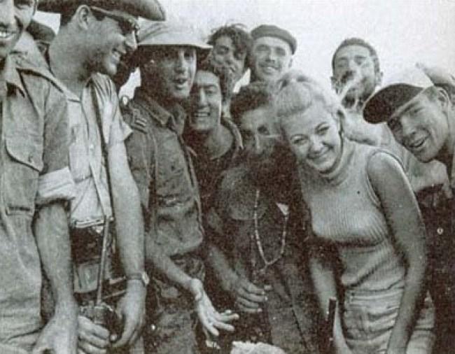 Mandy Rice Davies with the Israeli army