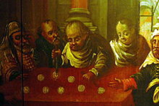 16th century painting of Jews desecrating the Host (foto Henry Makov)