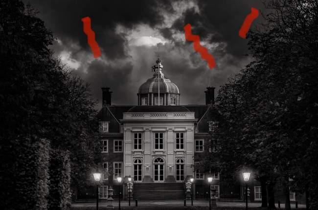 Een kwaad Paleis Huis Ten Bosch? (foto Facebook)