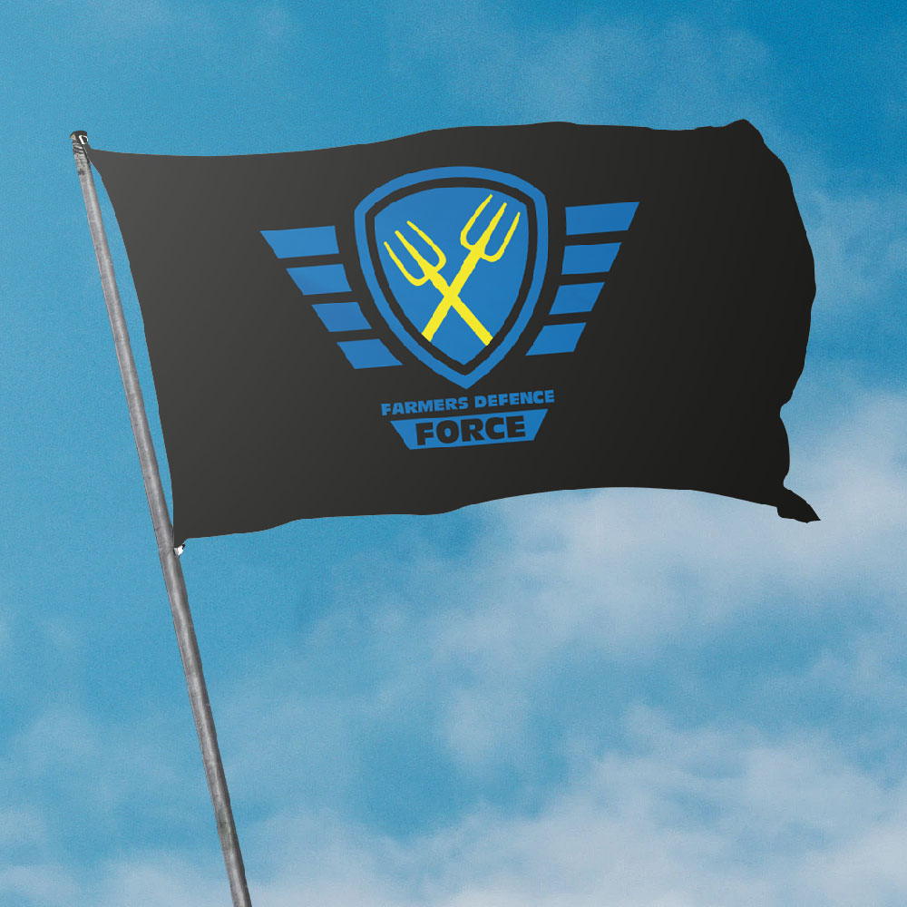 Farmers Defence Force vlag (foto FDF)