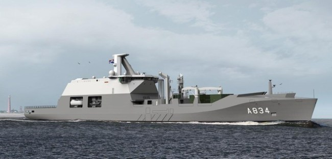 Het nieuwe schip Zr. Ms. Den Helder (foto Arie Booy)