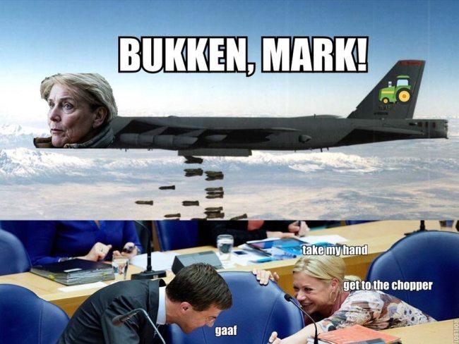 Bukken, Mark! (foto GeenStijl)