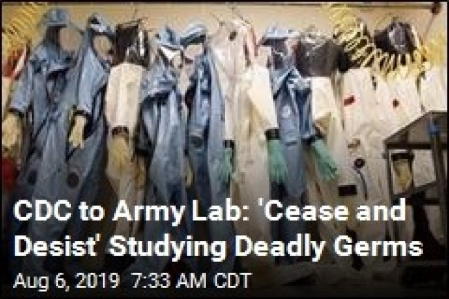 CDC to Army Lab 'Cease and Desist' Studying Deadly Germs (foto What Does It Mean)