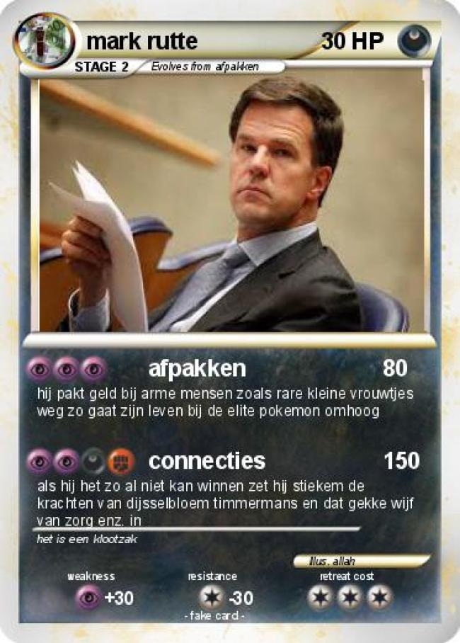 Hij pakt geld bij arme mensen (foto My Pokemon Card)