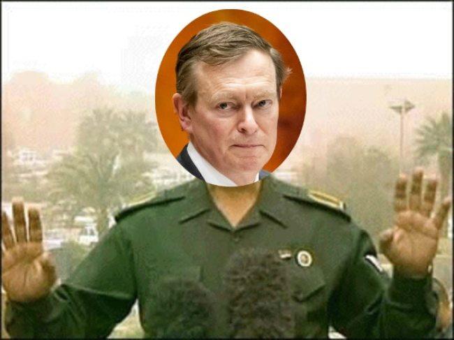 """Minister Bruno Bruins: """"Geen paniek!"""" (foto GeenStijl)"""