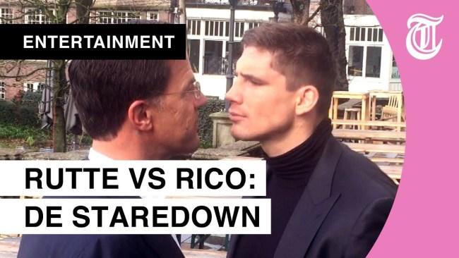 Rutte versus Rico de Staredown (foto Gids.tv)