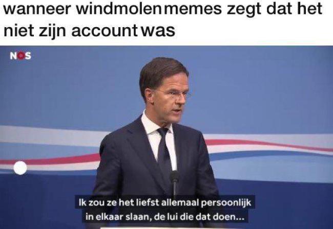 Wanneer windmolen memes zegt, dat het zijn account niet was (foto Reddit)