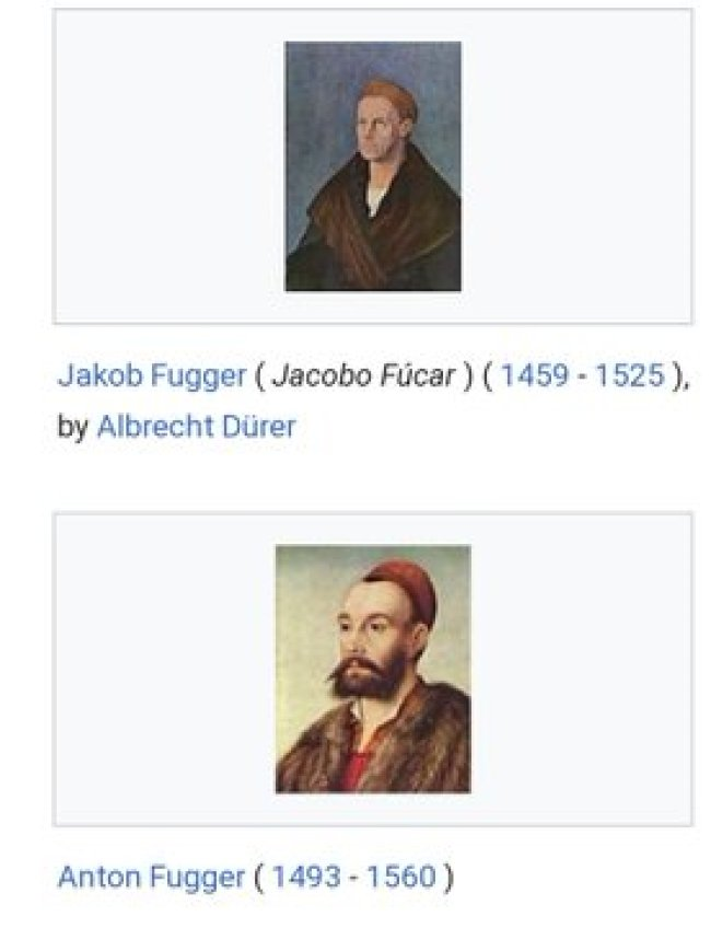Albrecht Dürer - Jakob Fugger (Jacobo Fúcar) (1459-1525) & Anonymous - Anton Fugger (1493-1560)