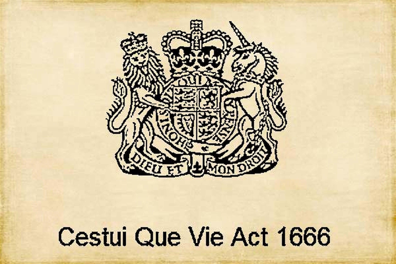 Cestui Que Vie Act 1666 (foto Freedom Research)