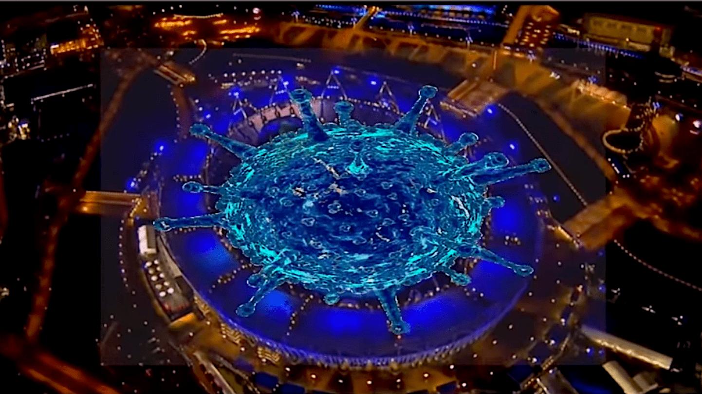 Het Corona Virus op de openingsceremonie van de Olympic Games London 2012