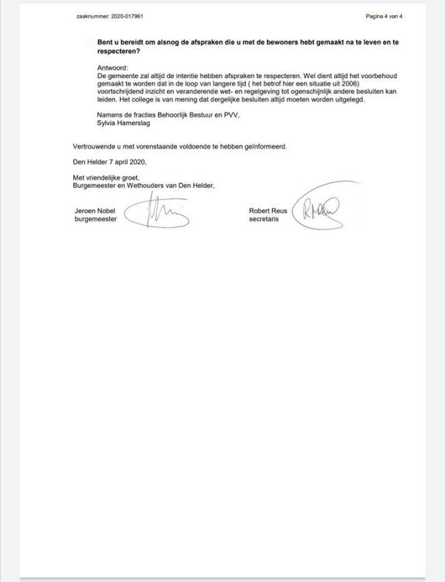 Gemeente Den Helder - Beantwoording van schriftelijk vragen, gesteld door de fractie Behoorlijk Bestuur betreffende woonwagenkamp (4) (foto Facebook)