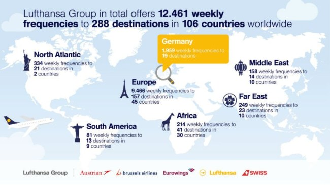 Lufthansa Group airlines to offer many new destinations Worldwide (foto The Financial)