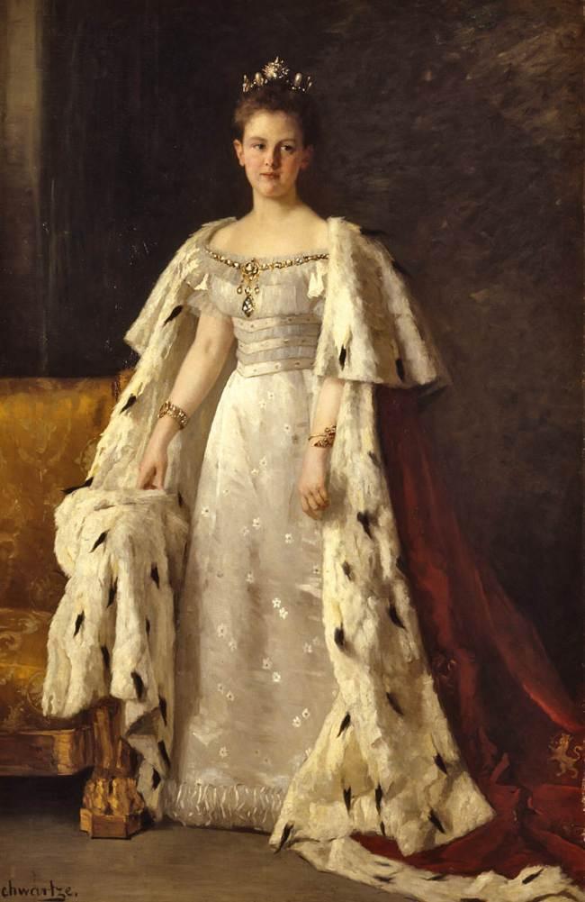 Thérèse Schwartze - Koningin Wilhelmina inhuldigingsportret (1898)