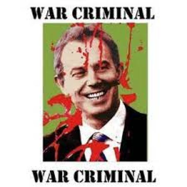 Tony Blair War criminal (foto Facebook)